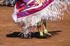 Pow Wow Dancers. Native American dancers in traditonal rigalia perform during a Pow Wow royalty free stock photos