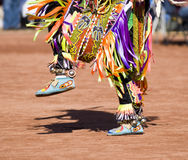 Pow Wow Dancers. Native American dancers in traditonal rigalia perform during a Pow Wow royalty free stock images