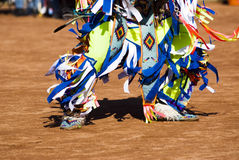 Pow Wow Dancers. Native American dancers in traditonal rigalia perform during a Pow Wow royalty free stock photography