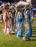 Pow-wow Dancers. Anderson, California, USA-October 3, 2015: A group of Native American dancers perform a dance to the drums at the Stillwater Pow-wow in northern stock photos