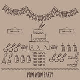 Pow wow. Indian party Stock Photography