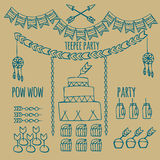 Pow wow. Indian party Stock Images