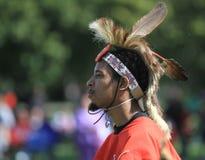 Pow wow man dancer face proud look Stock Photo