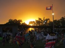 Pow Wow at Sunset Royalty Free Stock Image