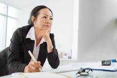 poważna biznesowej kobieta zdjęcie stock