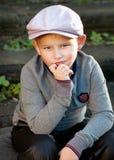 Poważna chłopiec Zdjęcie Stock
