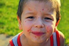 Poważna chłopiec Zdjęcia Stock