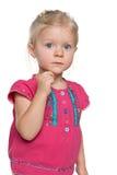 Poważna preschool dziewczyna fotografia royalty free