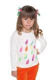 Poważna preschool dziewczyna zdjęcia royalty free