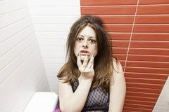Poważna rozważna dziewczyna Zdjęcie Royalty Free