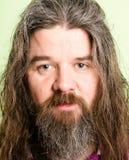 Poważnego mężczyzna portreta definici zieleni wysokiego backgroun istni ludzie Fotografia Royalty Free
