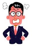 Poważni biznesmeni które są ubranym szkła dostają wściekłymi royalty ilustracja