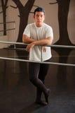 poważny baletniczy tancerz zdjęcia stock