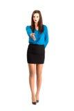 Poważny biznesowej kobiety witać Obraz Stock