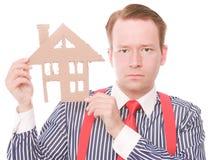 Poważny biznesowy houseowner zdjęcia stock