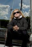 poważny blond żeński żeglarz Zdjęcie Stock