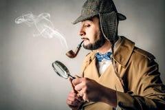 Poważny detektyw obrazy stock