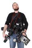 Poważny fotograf zdjęcia stock