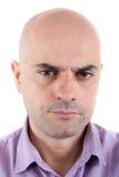 Poważny i gniewny mężczyzna fotografia stock