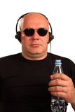 poważny komputerowy operator zdjęcia stock