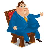 Poważny mężczyzna w biznesowym formalnym stroju odizolowywającym na białym tle Wektorowa kreskówki zakończenia ilustracja ilustracja wektor