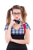 Poważny nauczyciel odizolowywający na bielu Zdjęcia Stock