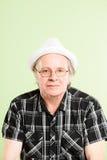 Śmiesznego mężczyzna portreta definici zieleni wysokiego tła istni ludzie Zdjęcia Royalty Free