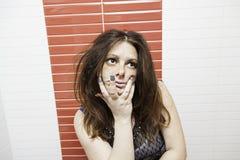 Poważna kobieta seksowna Obraz Stock