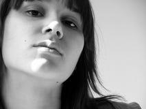 poważna twarz kobiety Obraz Stock