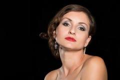 Powabna brunetki kobieta Obrazy Royalty Free