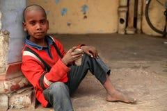 powabna chłopiec bieda Zdjęcie Stock