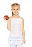 Powabna dziewczyna z jabłkiem Obrazy Royalty Free