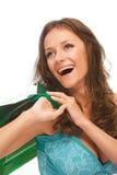Powabna dziewczyna z zakupami Zdjęcia Royalty Free