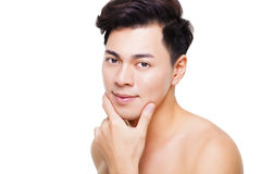 powabna młody człowiek twarz Fotografia Stock