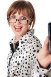 Powabna młoda biznesowa kobieta Zdjęcie Royalty Free