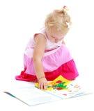 Powabna mała dziewczynka Zdjęcia Royalty Free