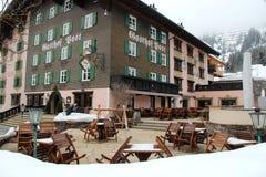 Powabna Plenerowa Hotelowa restauracja w Lechu zdjęcie royalty free