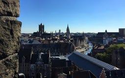 Powabne ulicy Ghent Francja - kasztel zdjęcie royalty free