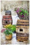 Powabne ulicy stare włoskie wioski Pacentro Obrazy Royalty Free