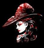 Powabny dziewczyna wampir Fotografia Royalty Free