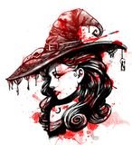 Powabny dziewczyna wampir Zdjęcie Stock
