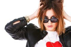 powabny dziewczyny okularów przeciwsłoneczne youn Obraz Stock