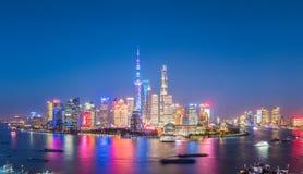 Powabny zmrok w Shanghai Zdjęcie Royalty Free