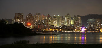 Powai at night seen over the lake Stock Photos