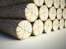 Powalać drzewni fiszorki, 3d tło ilustracja wektor