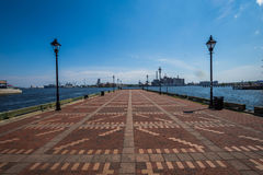 Powalać Point/kantonu nabrzeże w Baltimore, Maryland Zdjęcie Stock