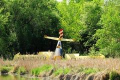 Powalony samolot Fotografia Stock