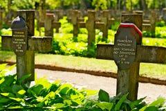 Powazki Military Cemetery in Warsaw, Poland. Royalty Free Stock Photo