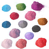 Powder. Multi-colored powder on a white background Royalty Free Stock Images