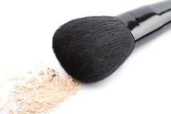 Powder And Black Brush Isolated Stock Photos